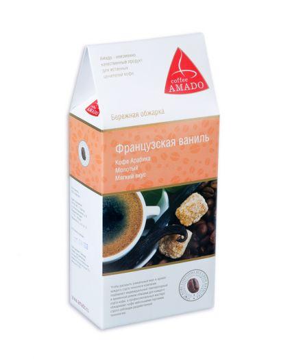АМАДО Кофе молотый арабика Французкая ваниль 150 г